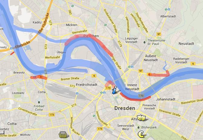 Hochwasserhilfe Dresden - Google maps
