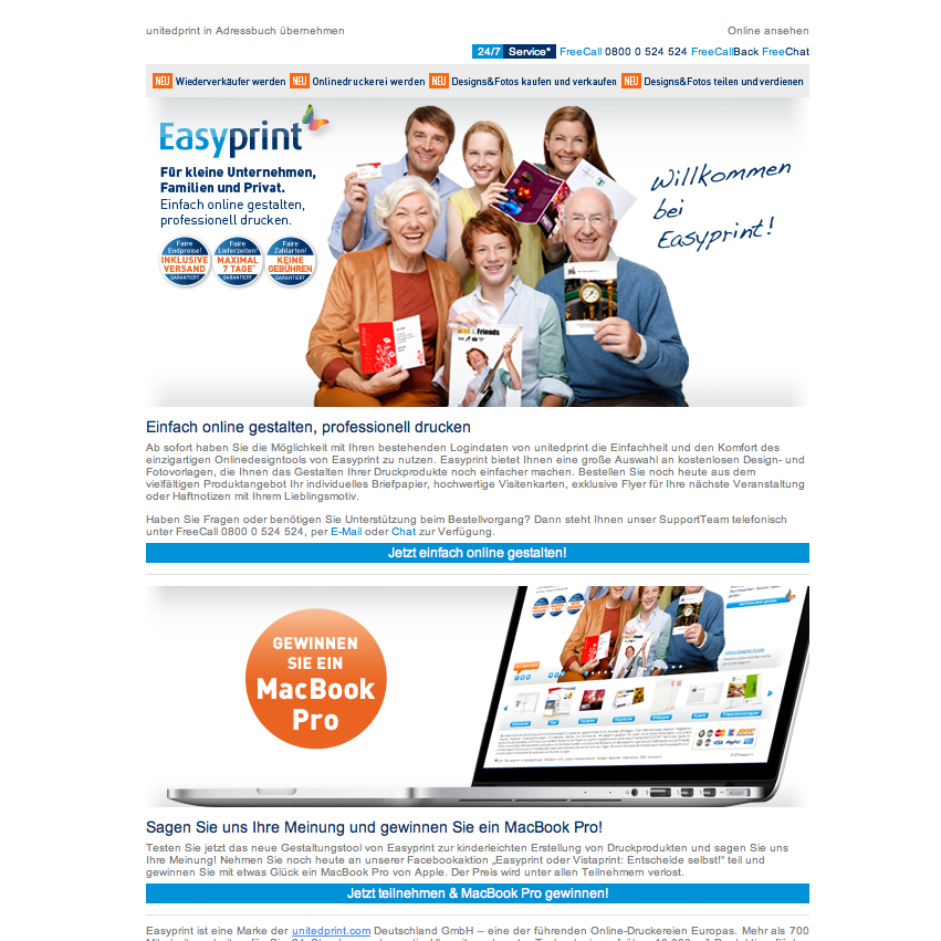 Newsletter Easyprint