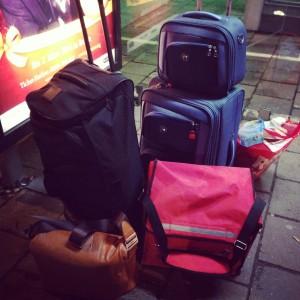 Wir zogen um - für eine Woche. So sah auch unser Gepäck aus.