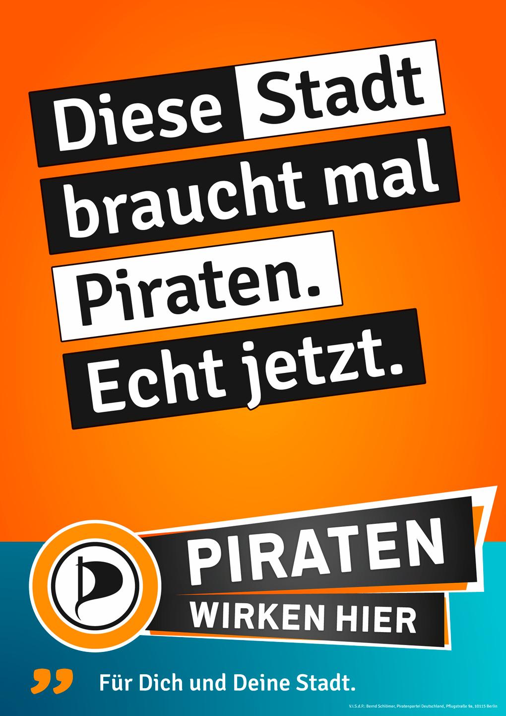 Die Piraten möchten am 25. Mai in den Stadtrat gewählt werden.