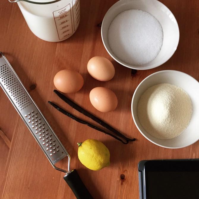 Zutaten Vanille Grießpudding